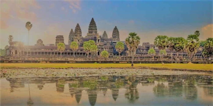 The country has the world's largest Hindu temple, more than 800 years old