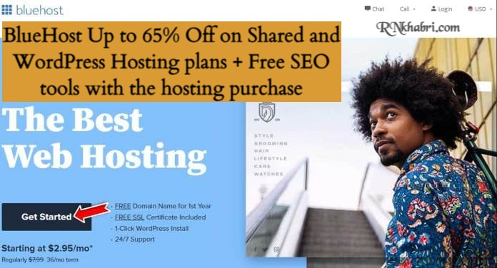 BlueHost Up to 65% Off on Shared and WordPress Hosting plans + Free SEO tools with the hosting purchase